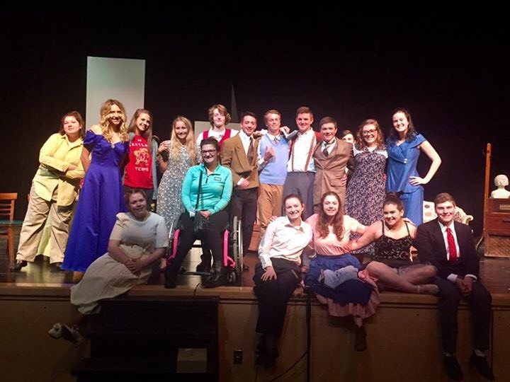 Student actors make 'dramatic' entrance to spring