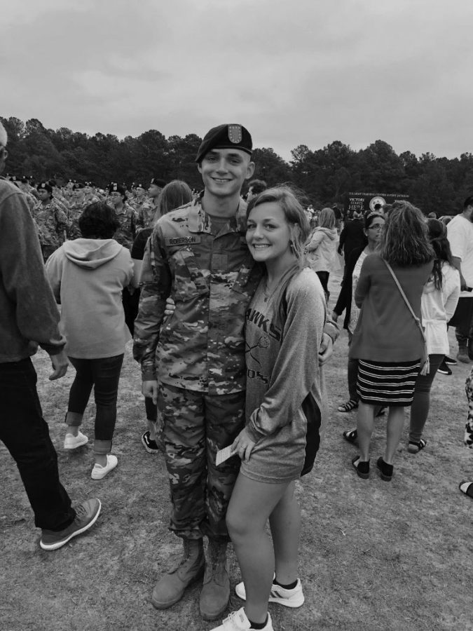 Chloee met with her brother for graduation from boot-camp in South Carolina.