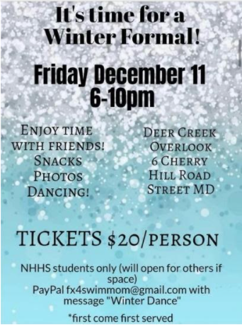 To give the students something to be happy about, Mrs. Hahn as organized a dance! The dance will be rescheduled if necessary.