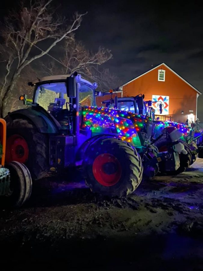 Lighting up the Night: Holiday tractor parade connects community