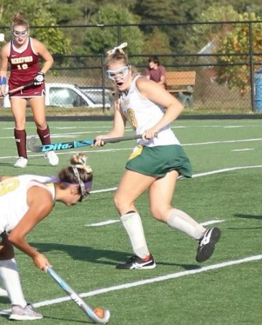 This was a big game against Hereford. Zoe Mikles gets ready to receive a pass from her teammate.