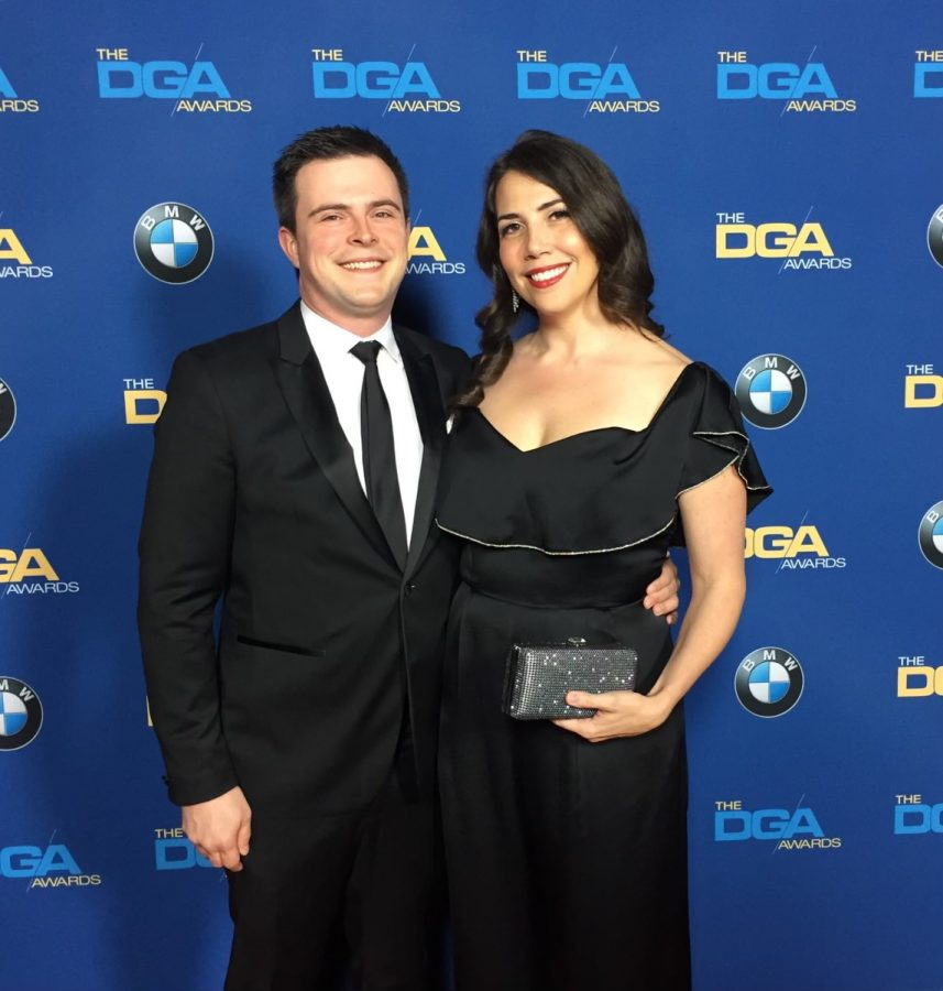 Holly McGreevy Scott and her husband, Alex Scott, at the 70th annual DGA awards in 2017. They attended to support Greta Gerwig's nomination for the movie Lady Bird.