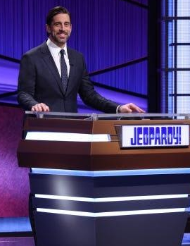 Green Bay Packers Quarterback, Aaron Rodgers as the Guest host for 'Jeopardy' for two weeks. Rodgers has been a long-time 'Jeopardy' fan.