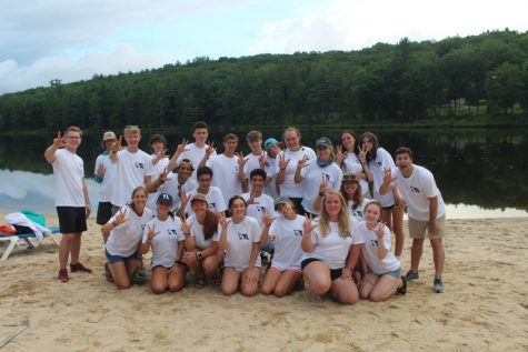 Young Life kids at camp in New York last summer. Where they participated in water sports and fellowship as a group.