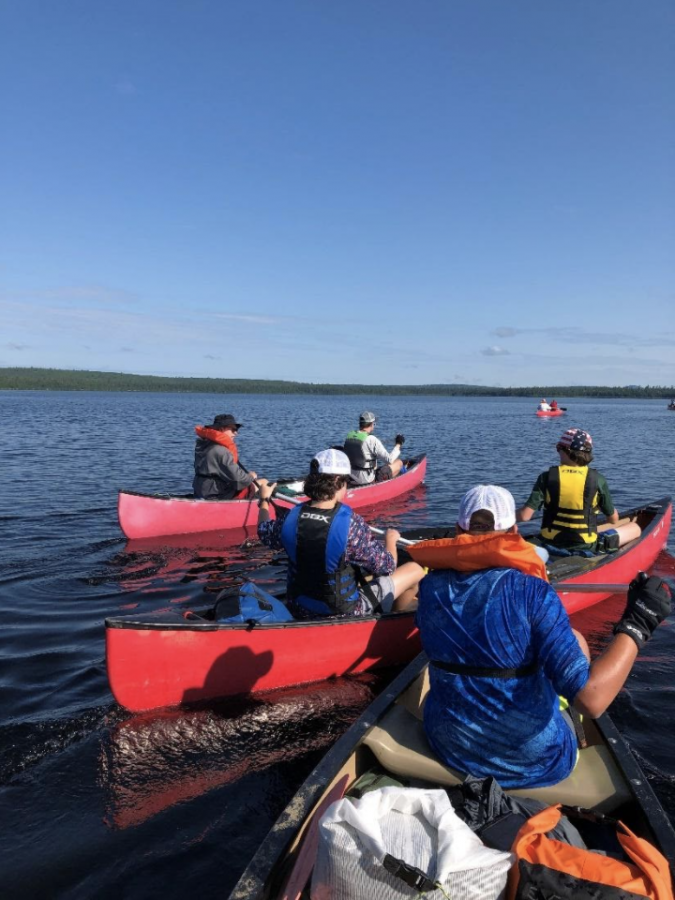 The members of troop 265 canoed a total of 82 miles  on the Allagash river in Maine. Averaging 12 miles per day, Shenton and his troop members were able to canoe to the U.S.-Canada border.