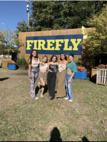 The Firefly Festival took place in September this year. North Harford students taking pictures in front of the Firefly official sign.