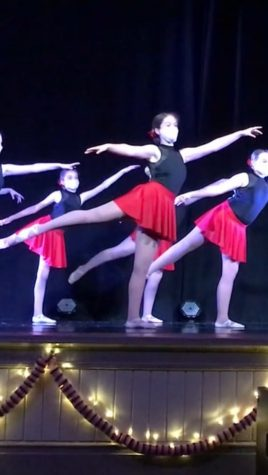 Katie Jones dancing in her jazz dance recital at the Armory in Bel Air, Maryland. Katie continues to dance and is now preparing for her next recital in April.